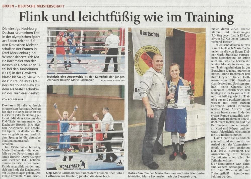 Artikel Deutsche Meisterschaft MM 2016