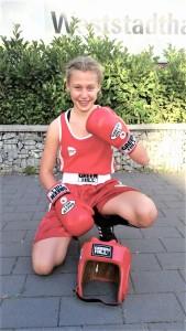 Jana beim Wettkampf in Hessen