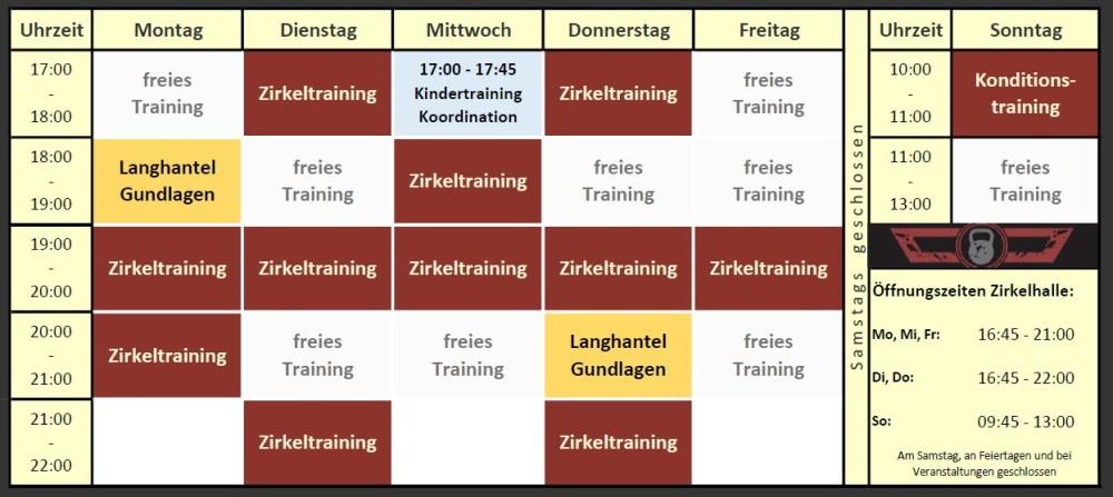 Zirkeltraining in Günding ab 02.01.2018