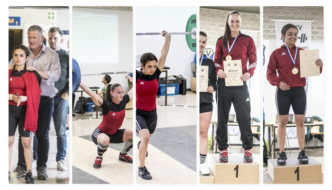 Leyla und Wimsi bei der Oberbayerischen Meisterschaft im Gewichtheben